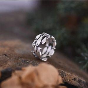 Jesus fish adjuatable metal ring